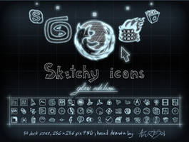Sketcy Icons Glow edition by AzureSol