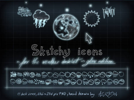 Sketcy Weather Icons Glow ed.