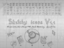 Sketchy Icons v 1.1 by AzureSol