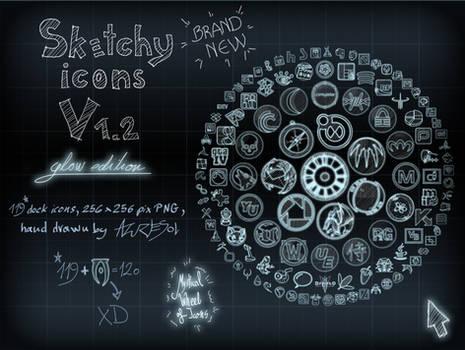 Sketchy Icons Glow ed. v 1.2