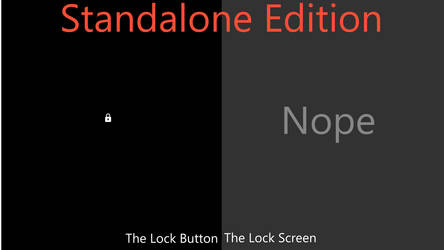 Minimalist - Black Lock Screen, Standalone Edition