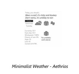 Dress Me! - Minimalist Weather