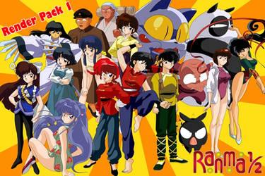 Render Pack 1 - Ranma One-Half by el-maky-z