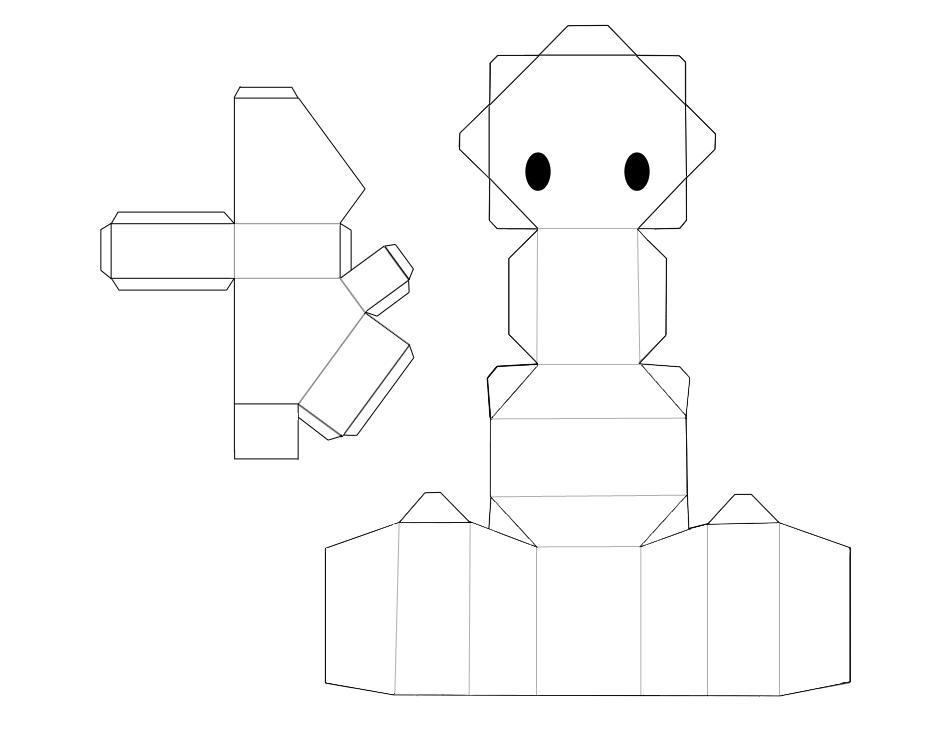 Animal papercraft base by arcelian on deviantart animal papercraft base by arcelian maxwellsz