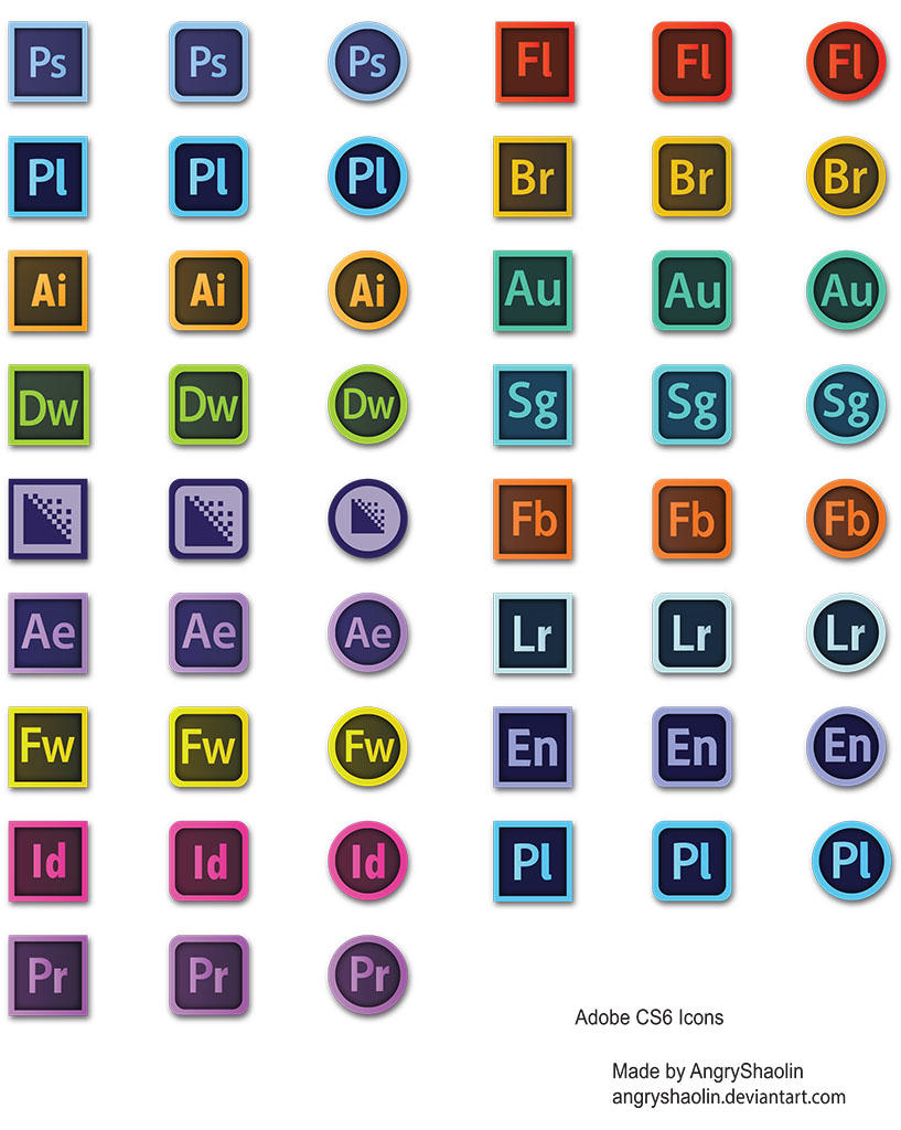 Adobe Cs6 Icons By Angryshaolin On Deviantart