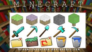 Minecraft Icons [.Rar] by DreamsChocolate