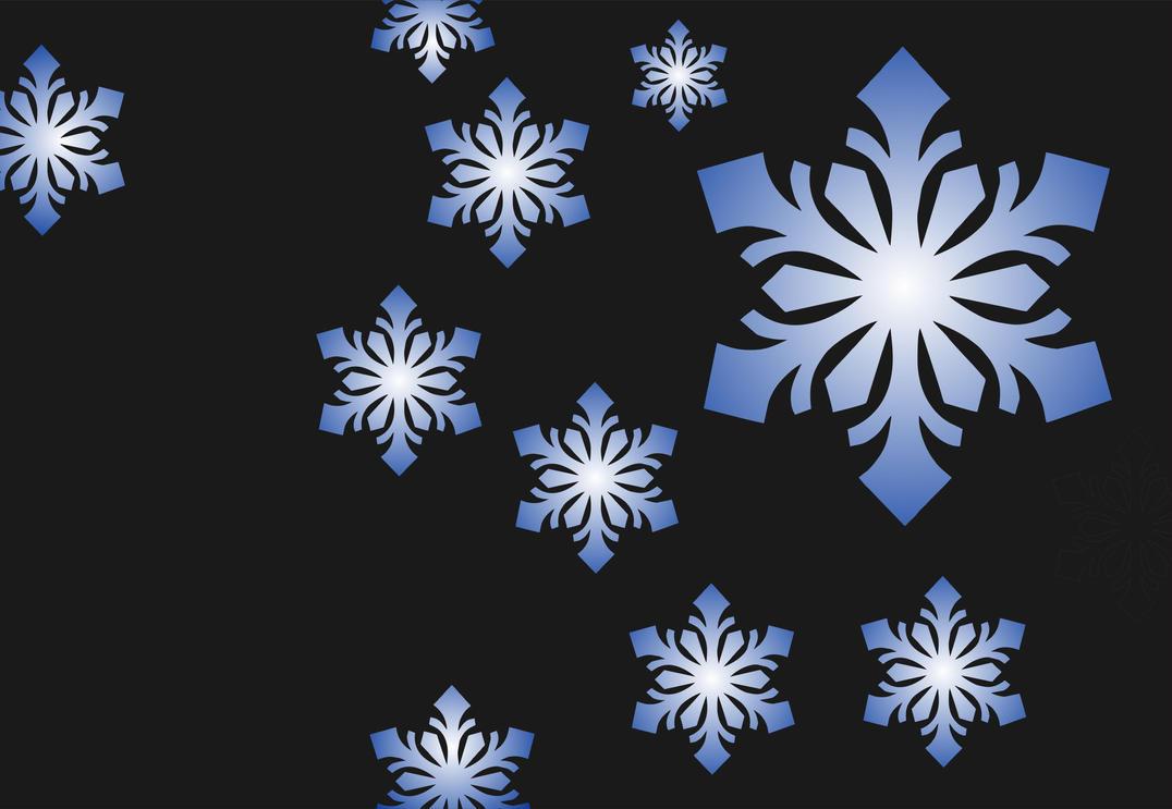 Free snowflake vector corel