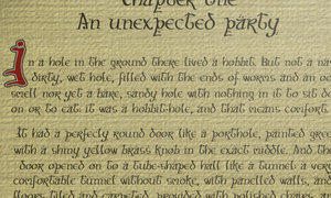 """""""Hobbit script"""" font by ness84"""