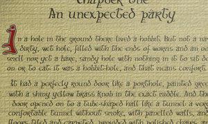 'Hobbit script' font