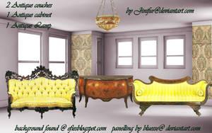 Antique furniture in png 6 by jinifur