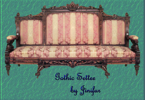 Gothic pink settee in png