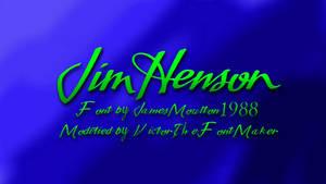 Jim Henson Font JamesMoulton1988 Modified
