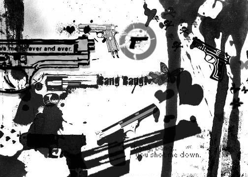 Guns Brushes by skullsXroses