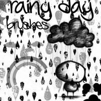 Rainy Day Brushes by skullsXroses