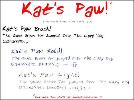 Kats Paw Font