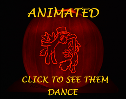 ANIMATED Pumpkin Carving  - Dancing Ponies by archiveit1