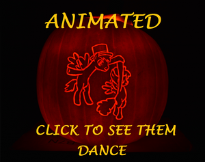 ANIMATED Pumpkin Carving  - Dancing Ponies