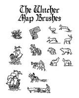 Witcher Map Brushes by Orboroth
