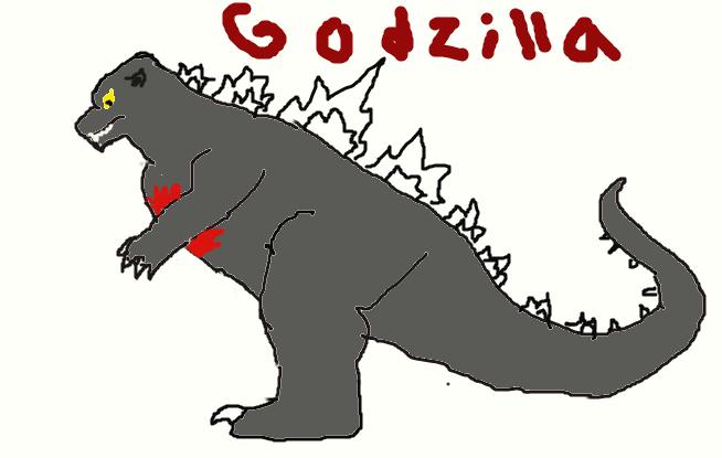 Godzilla 2002/2003 with scar by Kaijudino1235