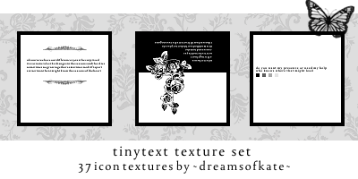 Tinytext icontextures by dreamsofkate