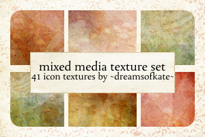 Mixed Media icon textures by dreamsofkate