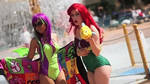 Neopets' Jhudora + Disney's Ariel Swimsuits (GIF) by MomoKurumi