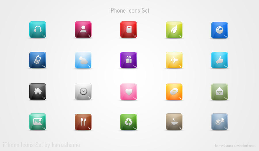 iPhone Icons Set by hamzahamo