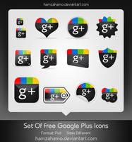 Free Google Plus Icons Set by hamzahamo