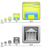 Faenza Explorer and Library Icons by dantenopolis