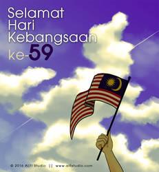 Poster Hari Kebangsaan 2016 by alfi-ramadhani