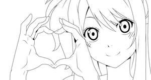 LINEART - Lucy Heartphilia -