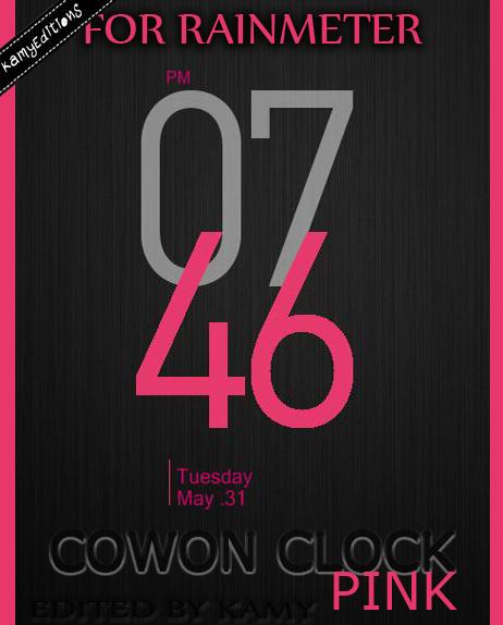 Cowon Clock Pink by kamysweet