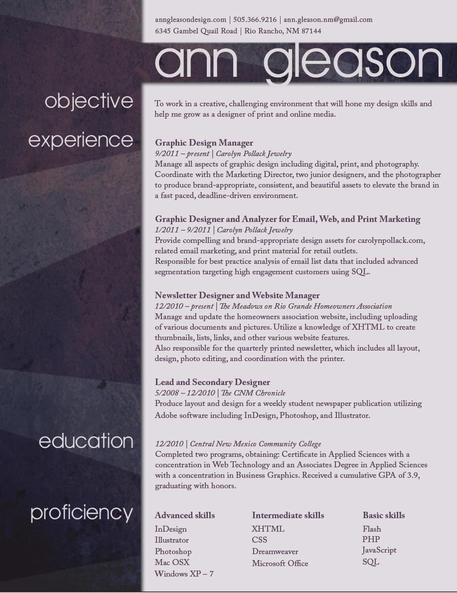 Resume by lunarelegy
