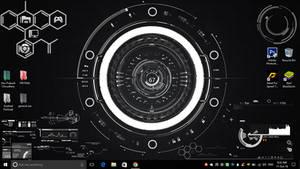 Hi-tech desktop (Rainmeter)