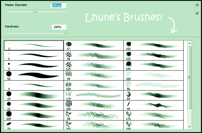 My Brushes by LhuneArt