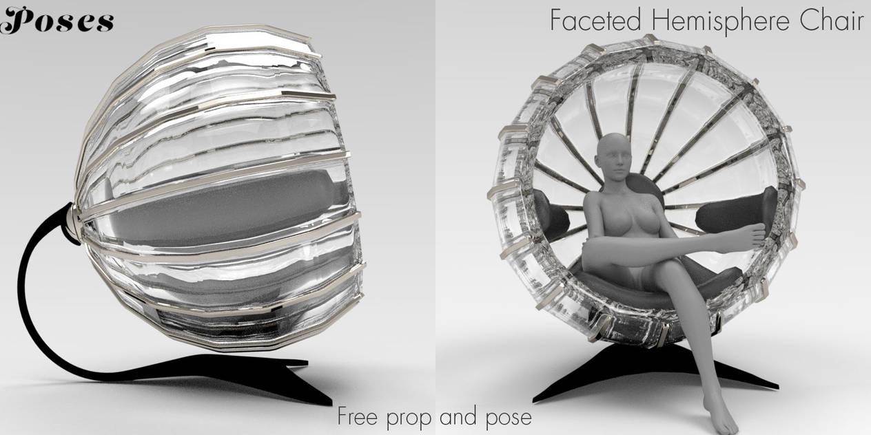 Faceted Hemisphere Chair Freebie by Poses17