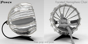 Faceted Hemisphere Chair Freebie