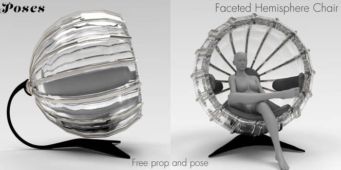 Faceted Hemisphere Chair Freebie