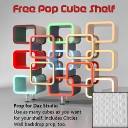 Free Pop Cube Shelf Prop
