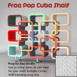 Free Pop Cube Shelf Prop