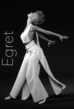 Pajaro Outfit Egret Texturess