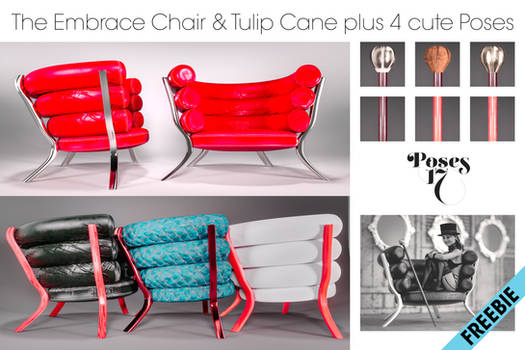 Embrace Chair and Tulip Cane + Poses Freebie