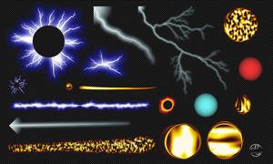 Fireball Lightning Fantasy Overlay 2K (Free .Png)