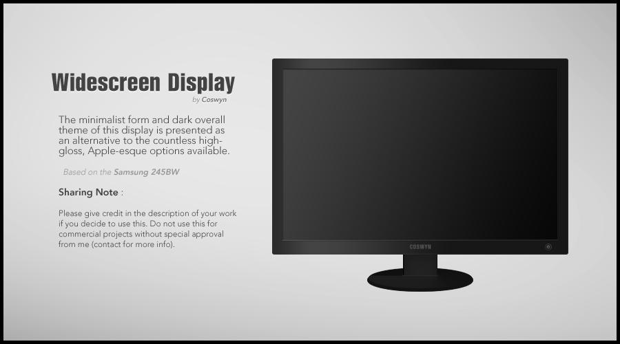 Widescreen Display PSD by Coswyn