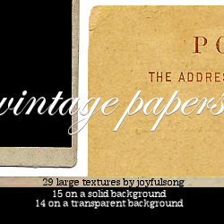 Textures 008: Vintage Papers by flowersong