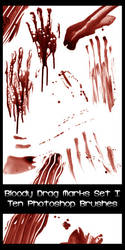 522 - Drag Mark Brushes I by Blood--Stock