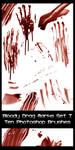 522 - Drag Mark Brushes I by Blood--Stock