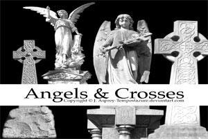 Angels + Crosses by Tempestazure
