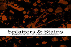 Splatters + Stains by Tempestazure