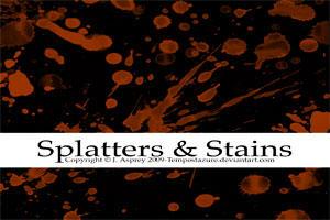 Splatters + Stains by Tempestazure